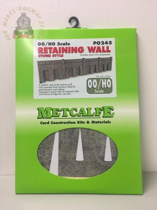 Metcalfe PO245 00/H0 Scale Retaining Wall in Stone - OO Gauge