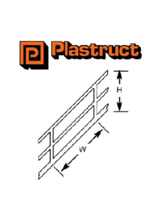 Plastruct SRS-4P  SRS-4P - 1:100 WHITE STYRENE STAIR RAIL (2)